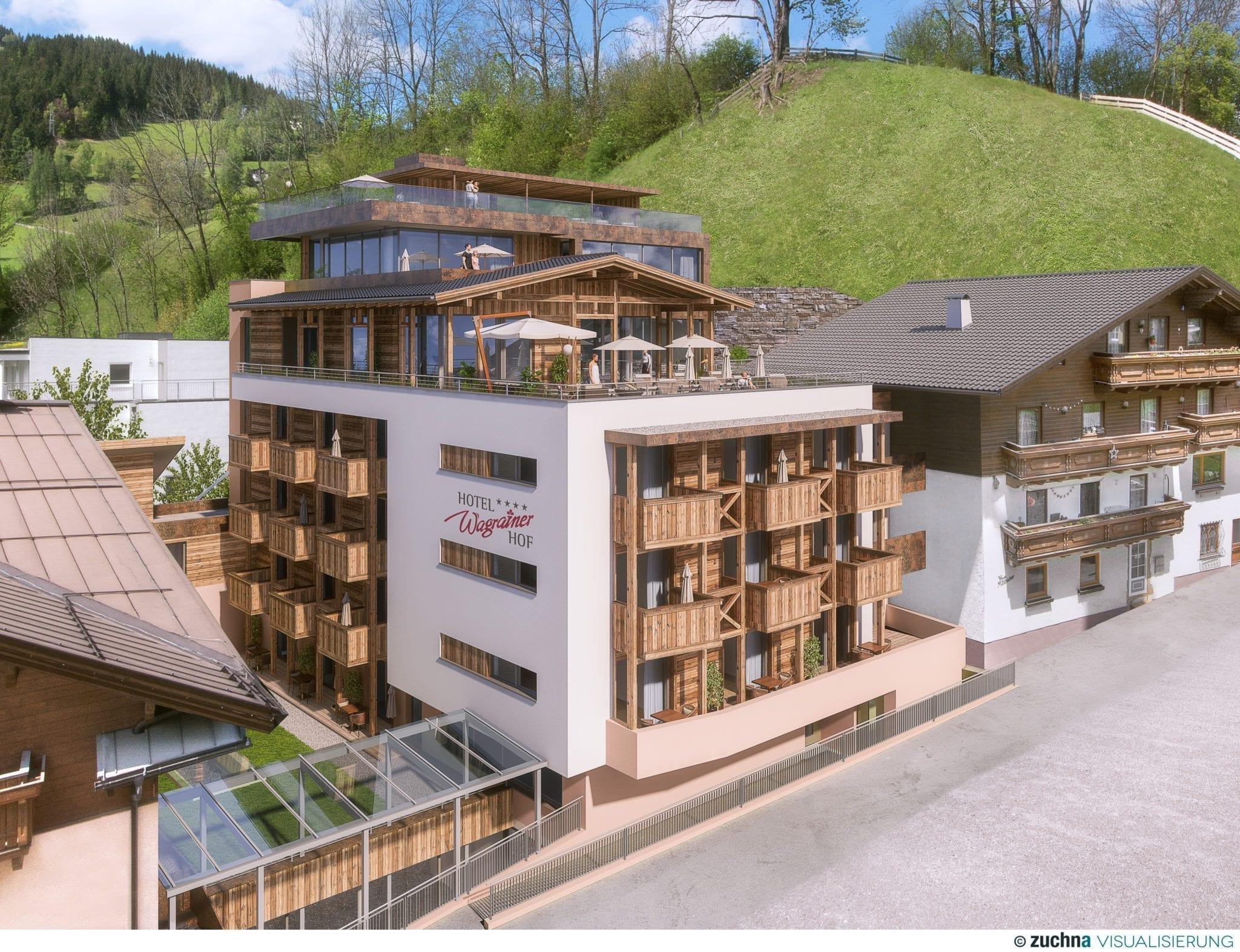 Plan des neuen Wellnesshotel Wagrainerhof