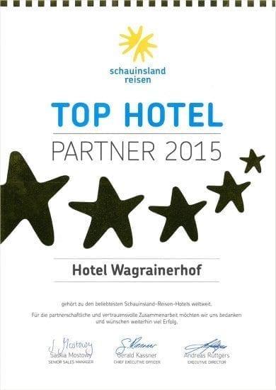 Hotel Wagrainerhof - Auszeichnungen - Schauinsland Reisen 2015