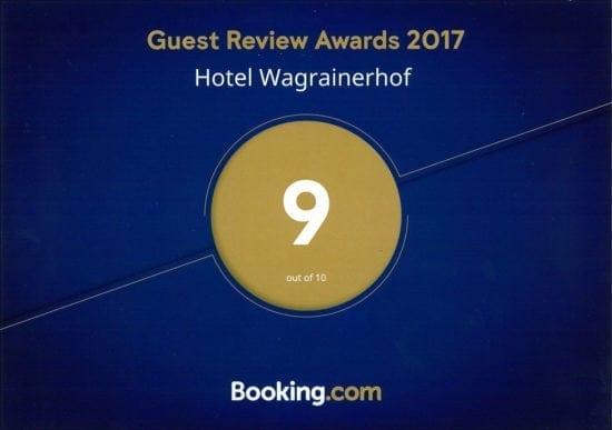 Hotel Wagrainerhof - Auszeichnungen - booking.com 2017
