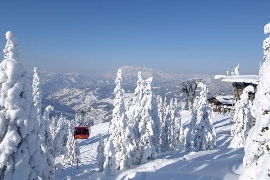 Lyžařský vlek v lyžařské oblasti Wagrain